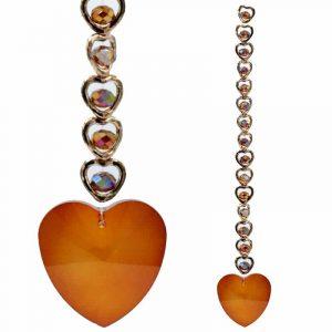 15 Harten Feng Shui Kristal Raamdecoratie Oranje