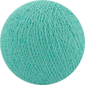 25 losse Cotton Ball's (Aqua)