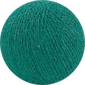 25 losse Cotton Ball's (Donker Aqua)