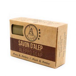 Aleppo Zeep Muskus-Amber - 8% Laurel Bay Oil - 100 gram