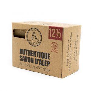 Aleppo Zeep Authentiek Ecocert - 12% Laurierolie - 200 gram
