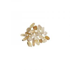 10 gram natuurlijke Citrien trommelstenen (ca. 4-5 stuks)