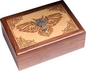 Sieradendoos - Laser Engraved - With Metal -Owl