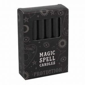 Magic Spell Kaarsen Bescherming (Zwart - 12 stuks)
