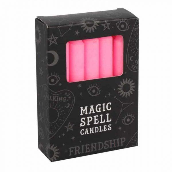 Magic Spell Kaarsen Vriendschap (Roze - 12 stuks)