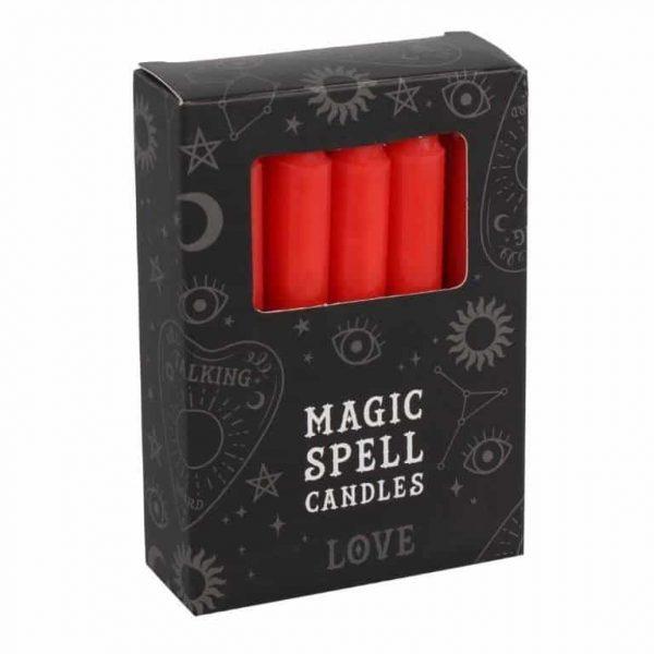 Magic Spell Kaarsen Liefde (Rood - 12 stuks)