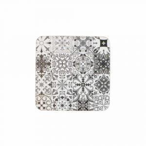 Luxe Onderzetters Spaanse Tegels Grijs (Set van 6)
